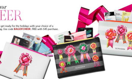 Sephora: Cheer Bag (3 to choose from) FREE after $45