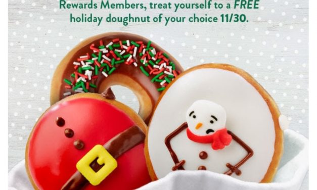Krispy Kreme Holiday Doughnut FREE (today only)