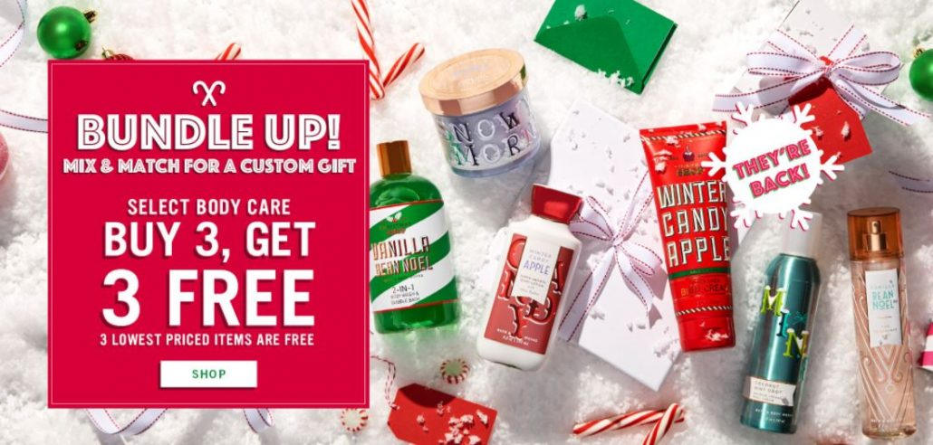 Bath & Body Works Buy 3 Get 3 (as low as $5 ea) Today Only