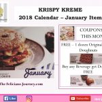 Krispy Kreme Calendar January 2018 Coupons
