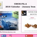 Chick Fil A – January 2018 Calendar (what is free this month)