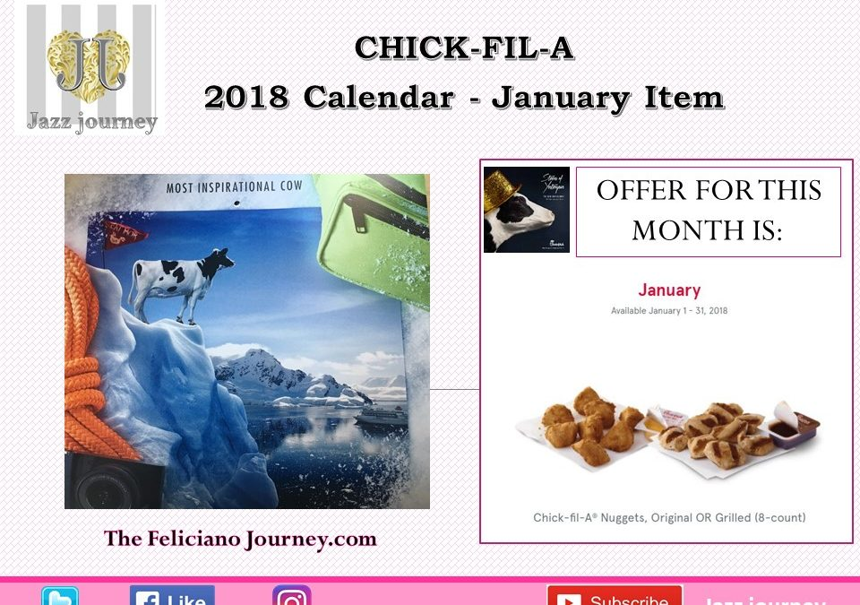 Chick Fil A – January 2018 Calendar (ends today)
