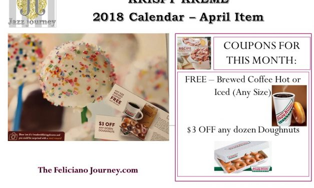 Krispy Kreme 2018 calendar April coupons reveal