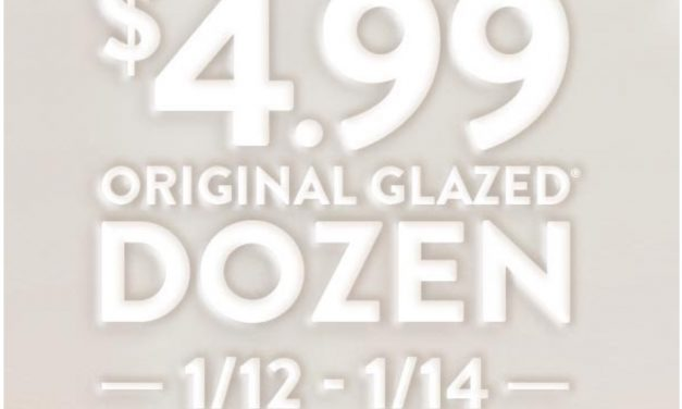 Krispy Kreme Glazed Dozen $4.99 deal (ends today 1/14)