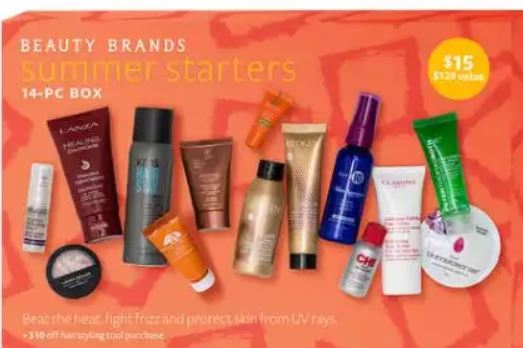 Beauty Brands 14pc Summer Starters Bag – $11.50 (Value $125)