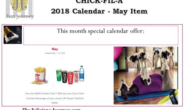 Chick Fil A – May 2018 Calendar Offer