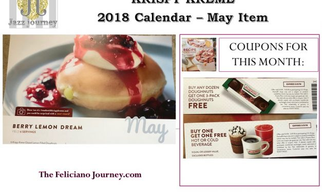 Krispy Kreme 2018 calendar May coupons reveal (last day)