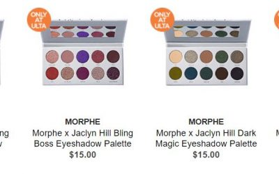 Ulta as low as $11.50 ea Jaclyn Hill New Individual Palette