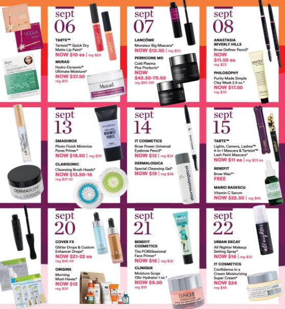 Ulta 21 Days of Beauty Fall 2018 – Sept 6 Offers