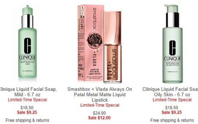 Macy's – Clinique & Smashbox 50% off (great time to stock up)