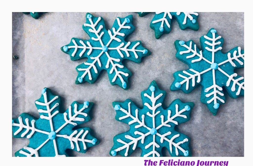 Blue Snowflake Sugar Cookies