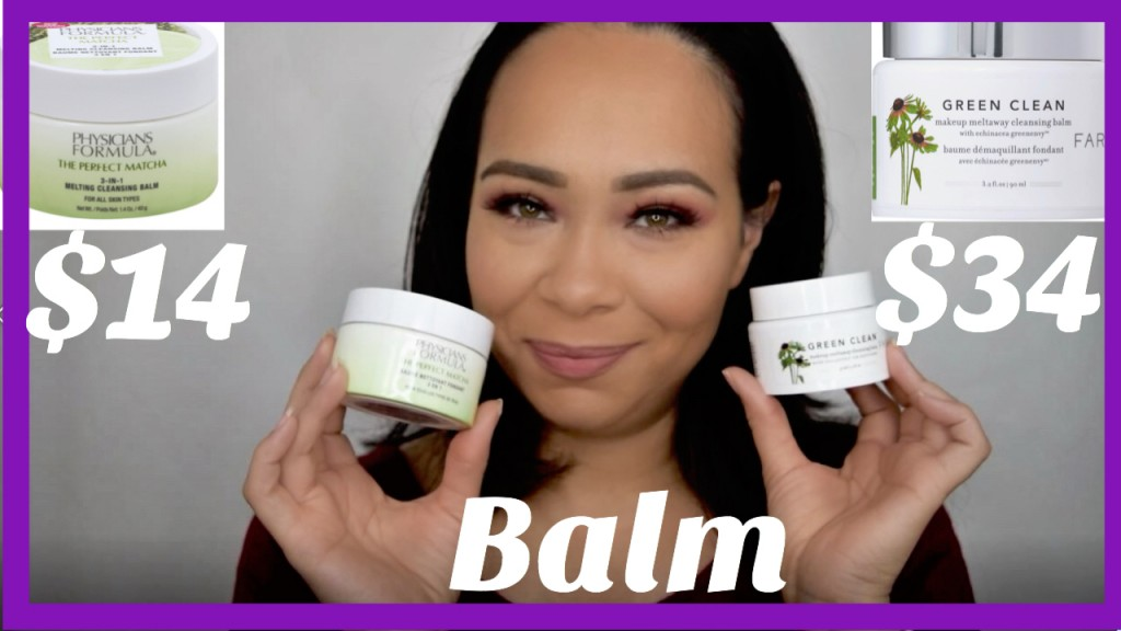 Balm Review- Farmacy Green Clean Makeup Balm vs Physicians Formula The Perfect Matcha Balm