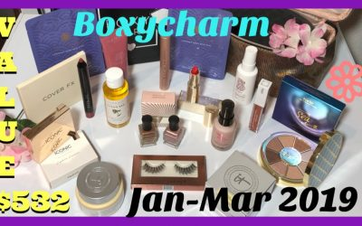 BoxyLuxe March 2019 Unboxing (Jan – March) Ret Value $532.98