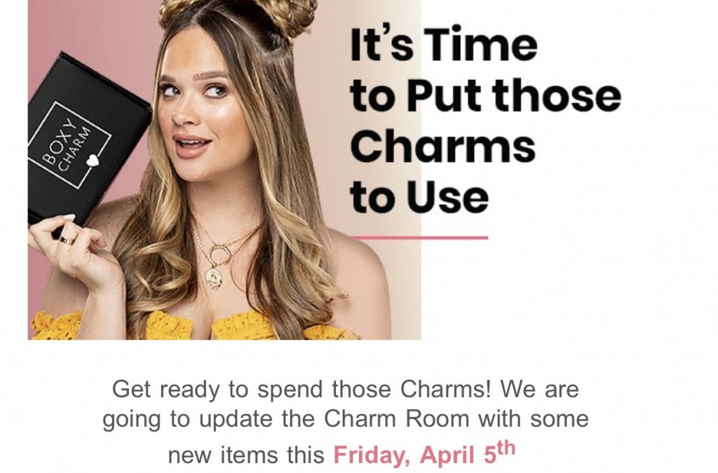 Boxycharm sneak peek charm items for April 2019 (open today)