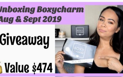 Boxyluxe September 2019 Unboxing, Try-On, Giveaway (video included)