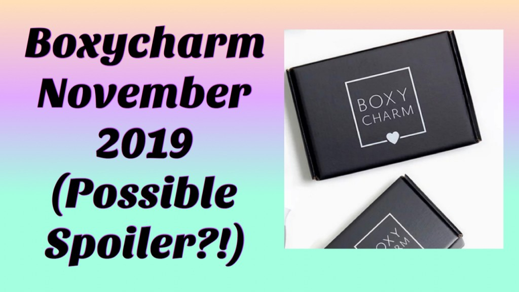 Boxycharm November 2019 Possible Sneak Peek (Foundation ?!)