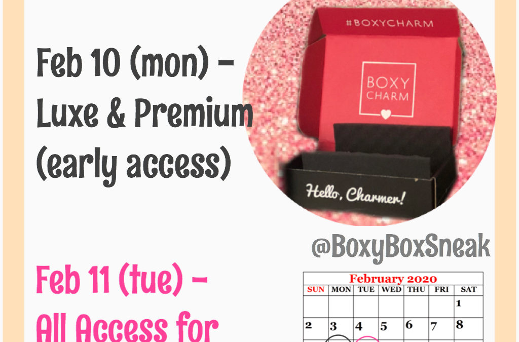 Boxycharm March 2020 Choice Dates (Base & Boxyluxe)