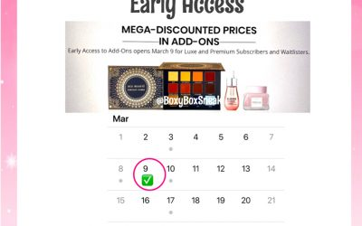 Boxycharm April 2020 Choice – Add-Ons for Base Box
