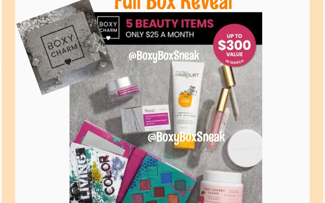 Boxycharm Base Box – March 2020 (3 Full Box Reveal)
