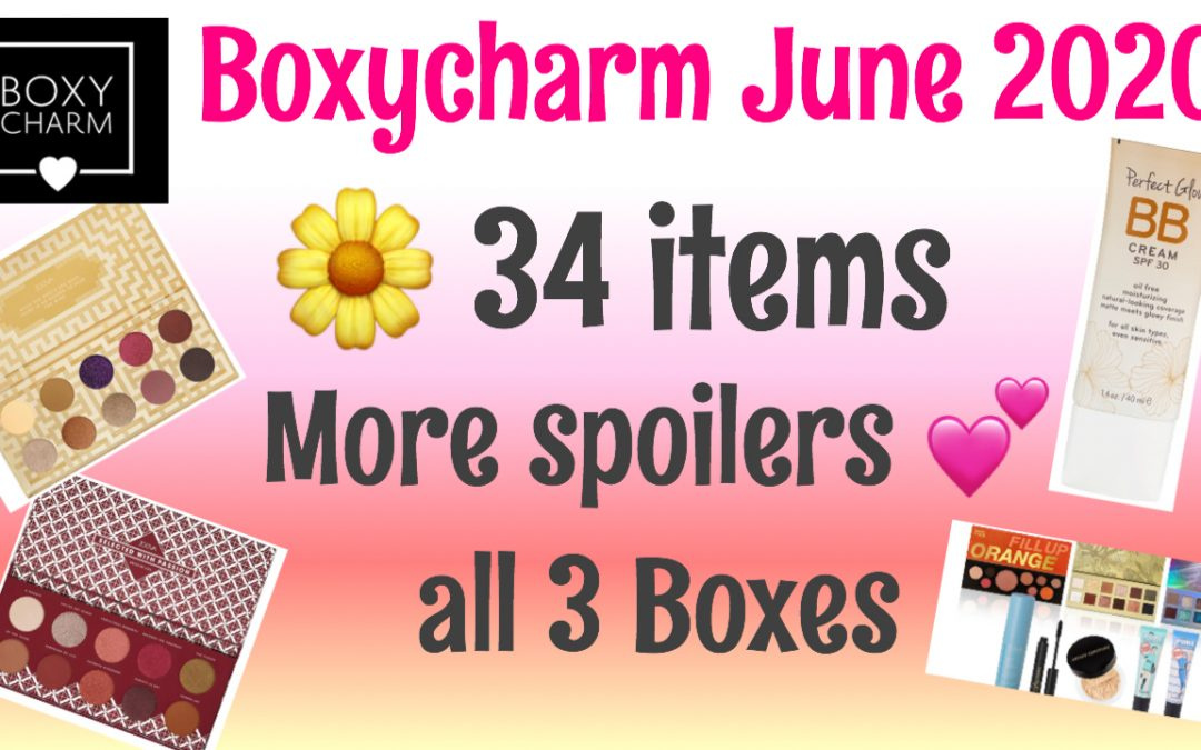 Boxycharm June 2020 Sneak Peek 34 items (all 3 boxes) Video Included