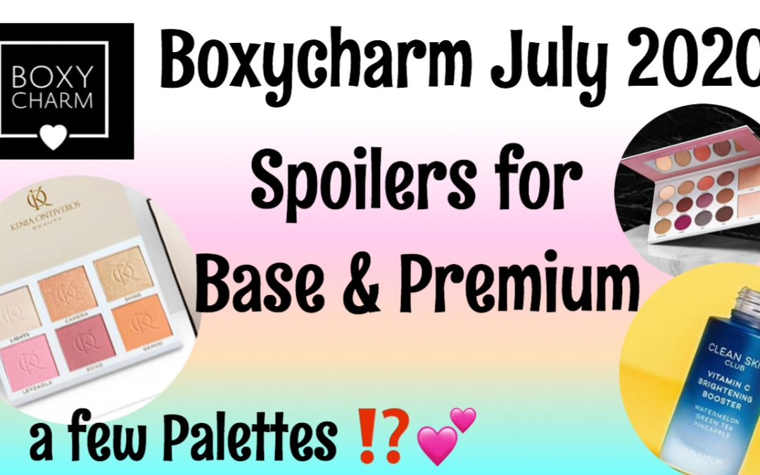 Boxycharm Base & Premium – July 2020