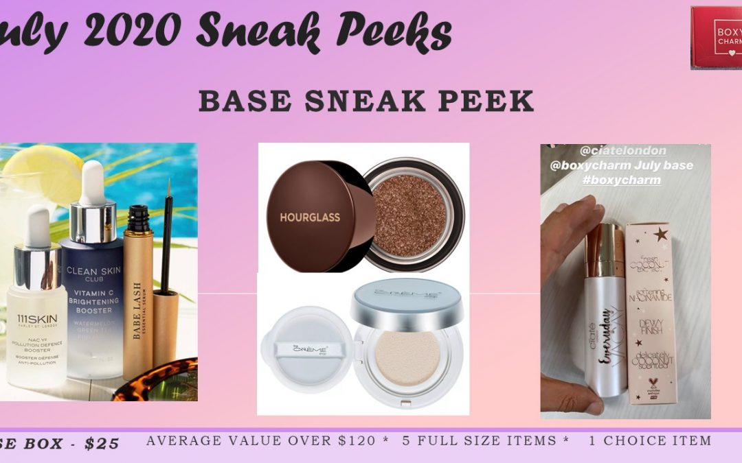 Boxycharm Base – July 2020 (3 new sneak peeks)